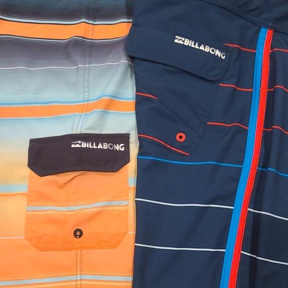Billabong Platinum X board shorts. Lot of 2.